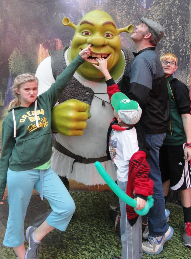 The Kids with Shrek
