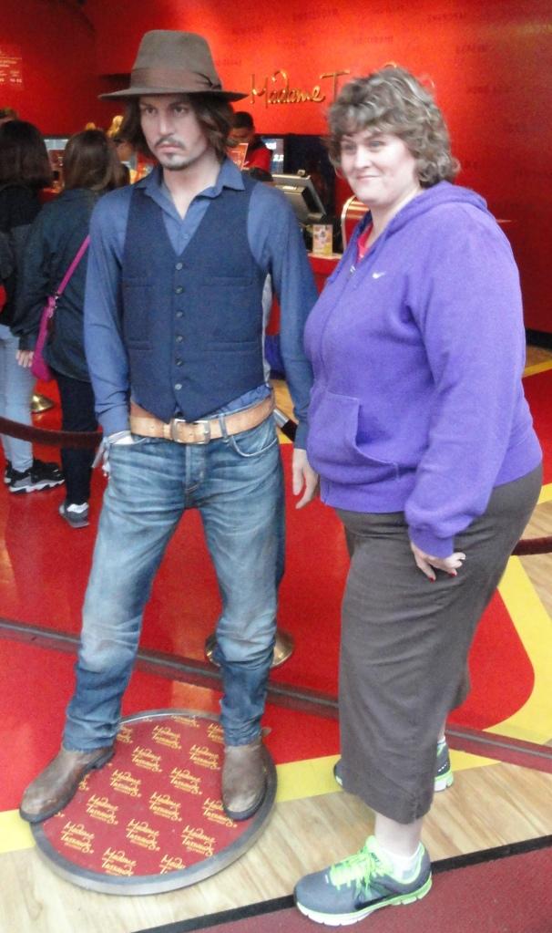 Lynette with Jonny Depp