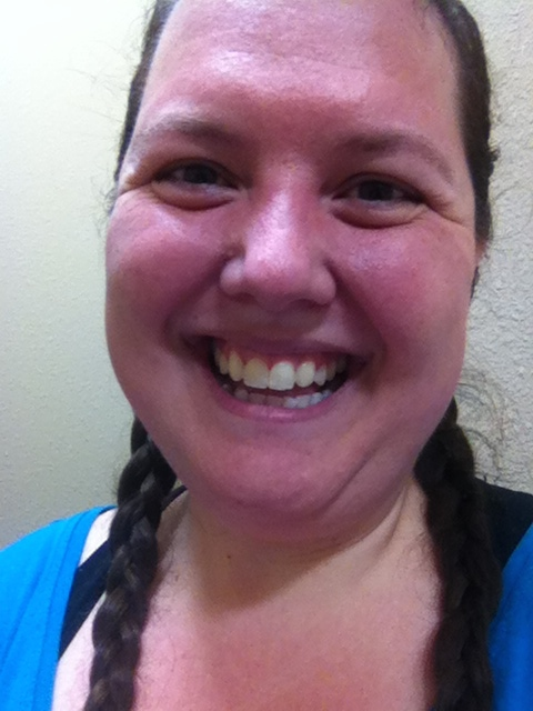 A happy, but sweaty girl, post workout!